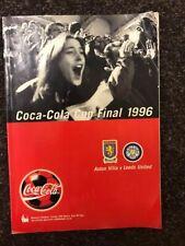 Official Matchday Programme Leeds United Aston Villa 1996 Coca Cola Cup Final