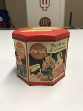 VINTAGE COCA COLA TIN CAN CONTAINER CANISTER