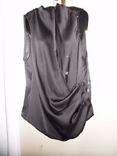 NWT BABY PHAT SZ 1X FAUX WRAP SLEEVELESS BLOUSE  BLACKTOP PLUS SIZE