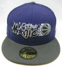 Orlando Magic Cap Hat New Era Fitted 7 3/8 Black Purple Eggplant Wool