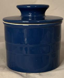 "Chefs Stoneware Blue Butter Bell Holder 4.5"" tall x 4"" wide kitchen gadget"