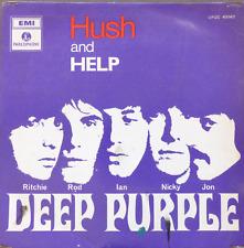 """DEEP PURPLE-HUSH /HELP ISRAEL ISRAELI PS 7"""" 45 EP RAREST 1968 1ST"""