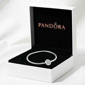 NOUVEAU Bracelet Pandora Moments Fermoir Chaîne Serpent Lettre O +Cadeau Boîte