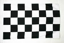DRAPEAU À DAMIER NOIR ET BLANC 150x90cm - DRAPEAU COURSE AUTOMOBILE - FORMULE 1