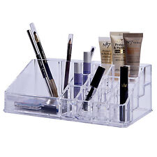COSMETIC MAKE UP NAIL POLISH ORGANISER DISPLAY STAND RACK CLEAR ACRYLIC MAKEUP