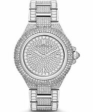 *NEW* MICHAEL KORS LADIES WATCH MK5869 - SILVER TONE PAVE CRYSTALS CAMILLE