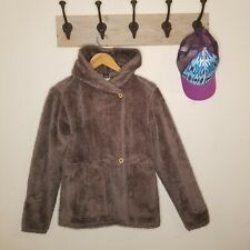 Patagonia Synchilla Plush Pile Jacket Small Fuzzy Teddy Bear Taupe Mushroom Euc