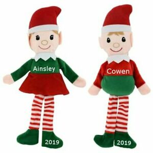 Personalized Plush Sitting Elf, First Christmas,