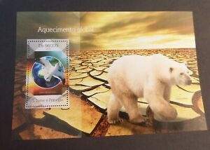 St Thomas & Prince Island 2014 Bird Polar Bear MNH UM unmounted mint