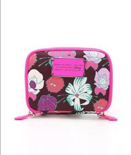 New $98 Marc Jacobs Pink Floral Disney Wallet Coin Purse Crimson Petal Stocking