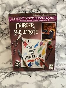 Murder She Wrote - Mystery Jigsaw Puzzle Game: The Art of Murder (550 Piece)1984