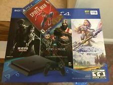New PS4 Slim 1TB PlayStation 4 Game Bundle  Spiderman  GOD  Horizon  The last