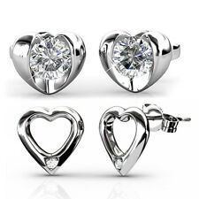 DUO HEART EARRINGS SET FT. CRYSTALS FROM SWAROVSKI KCTS559WES