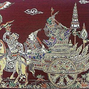 Ramayana Poster Thai Art Silk Paintings Home Wall Decor No Frame (28 x 25 cm.)