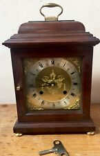 "British Mahogany Case Striking Mantle /Bracket Clock  GW0 11""H 7""W 5""D"
