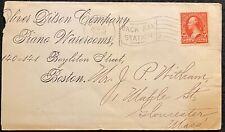 "1902 *OLIVER DITSON COMPANY* {PIANO} BOSTON, MASS. COVER+2 ""AMERICAN"" POSTMARKS!"