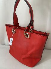 CORCEL - Ladies Large Handbag Red Faux Leather Shoulder/Tote Style Bag With Tags