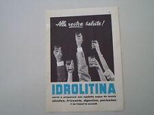 advertising Pubblicità 1960 IDROLITINA GAZZONI