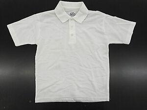 Boys Class Ahead White S.S. Uniform/Casual Polo Shirt Sizes Sml(6/7) - XL(18/20)