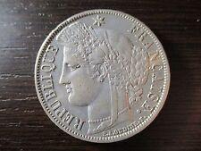 FRANCIA 5 FRANCOS - 5 FRANCS CERES 1870 A LETRAS EN EL REVERSO
