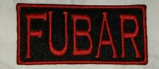 FUBAR MOTORCYCLE BIKER EMBROIDERED VEST PATCH IRON ON