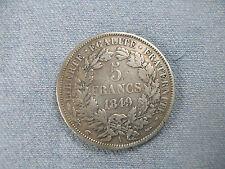 5 Francs Argent Ceres, 1849 TBITTB