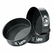 Spring Form Cake Tins - Set of 3, Black