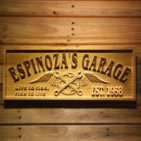 wpa0363 Name Personalized GARAGE Live to ride Ride to live Repair Wooden Sign
