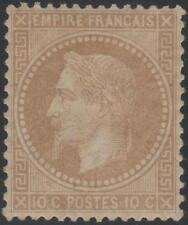 "FRANCE STAMP TIMBRE N° 28 A "" NAPOLEON III 10c  BISTRE TYPE I "" NEUF x TB  J832"