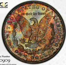 1878-S PCGS Silver Morgan Dollar MS63 Double Sided Toned Monster EOR