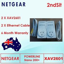 Netgear AV200 2 x XAV2601 Power line Nano Adapters Home Networking Kit 6 Mth wty