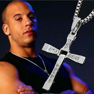 Fast and Furious Vin Diesel Toretto Cross Style Necklace - *UK*