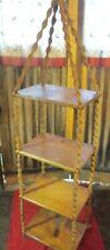 Hanging 4 Shelf Macrame jute table Plant Hanger vtg jute Mcm vintage