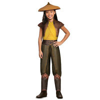Girls Disney Raya And The Last Dragon Child Halloween Costume + Hat Child XS S M