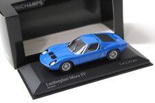 1:43 Minichamps Lamborghini Miura SV azzuro blue NEW bei PREMIUM-MODELCARS