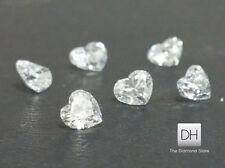 0.26 CT. Natural Heart Shape Match Pair Loose Diamond G-H VS2 Wedding Gift Real