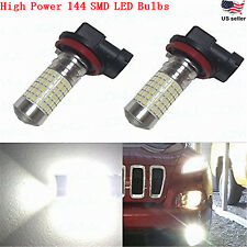 JDM ASTAR 2x H11 H8 6000K White 144 SMD LED Fog DRL Running Lights Bulbs Bright
