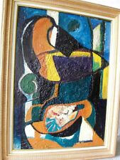 """PONS Jean (1913-2005) """"Enclume de la chair"""" -Composition abstraite 1947-Huile/ST"""