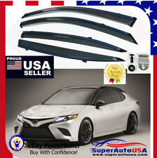 Fit 2018 19 TOYOTA CAMRY OE STYLE Chrome Trim WINDOW VISOR RAIN/SUN VENT SHADE