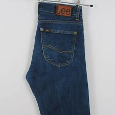 Mens LEE 101Z Selvedge Straight Leg Jeans Faded Dark Blue W32 L36
