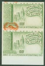 Guinea 1965 ICY 100fr proof pair CENTER INVERTED