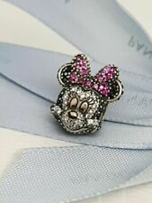 New Limited Edition Disney PANDORA MINNIE MOUSE PAVE PORTRAIT Charm 791796NCK