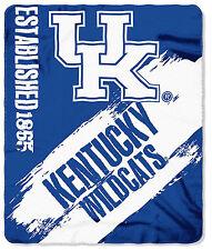 "NCAA Kentucky Wildcats Fleece Throw Blanket 50"" x 60"" College Football"