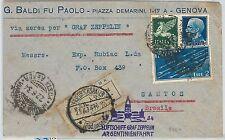 64196 -  ITALY - POSTAL HISTORY - AVIATION Airmail COVER: ZEPPELIN FLIGHT 1934