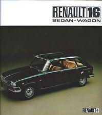 Auto Brochure - Renault - 16 Sedan Wagon - c1968 (A1013)