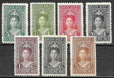 Curacao stamps 1923 NVPH 75-81  MLH/UNG  VF