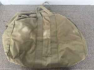 Vintage Military Flyers Aviator Plane Kit Duffle Green Canvas Bag