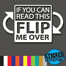 IF YOU CAN READ THIS FLIP ME OVER VINYL DECAL STICKER JEEP 4WD TRUCK 4 WHEEL SUV