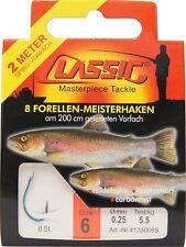 Paladin Classic Forellen-haken gebunden (200 Cm) 8 Stk. Gr. 6 Angelhaken