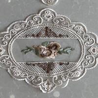 Flower Lace Applique Embroidery Trim Sewing Trims DIY Wedding Sofa Craft Decor